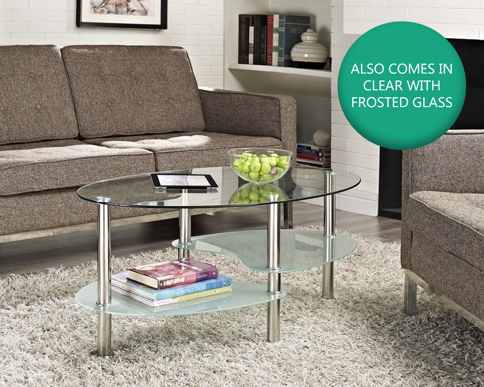 Cara Coffee Table And With Or Nest Of Tables Black Clear
