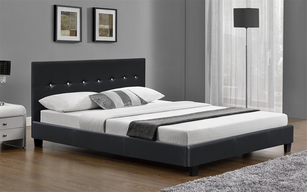 6ft Super King Size Bed Frame Faux Leather Black Or Brown