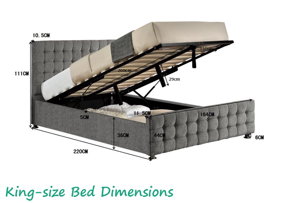 Ottoman Storage Bed Frame Double King Size Silver Velvet