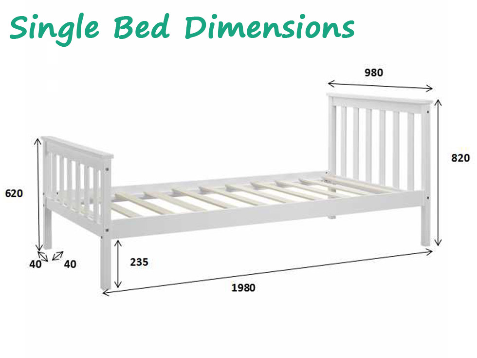 wooden bed frame natural pine double king single size. Black Bedroom Furniture Sets. Home Design Ideas