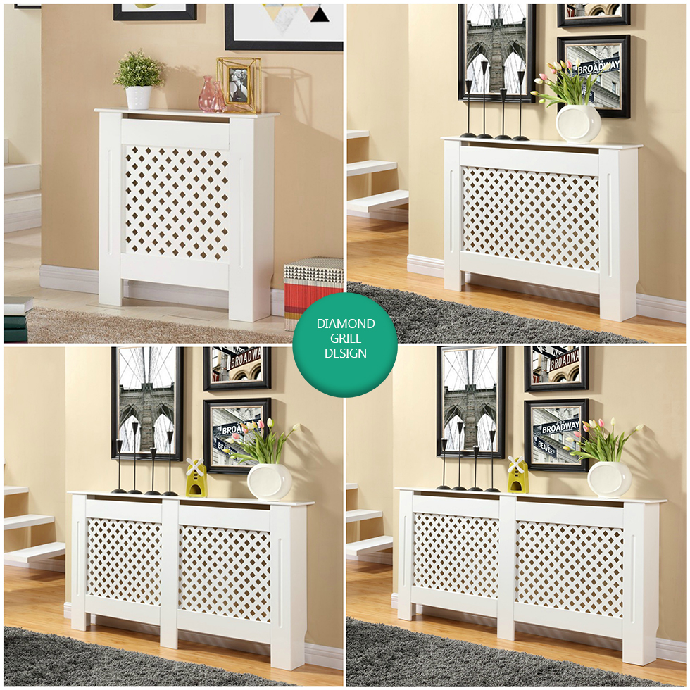 Painting Mdf Kitchen Cabinets White: White Painted Radiator Cover Cabinet Wood MDF Traditional